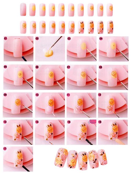 схема Рисунки на ногтях